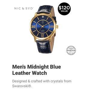 Nic & Syd Men's Leather Strap Watch BNWT